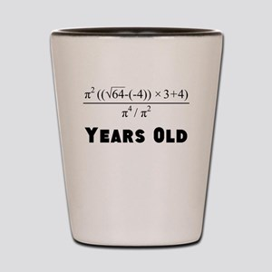 Algebra Equation 40th Birthday Shot Glass